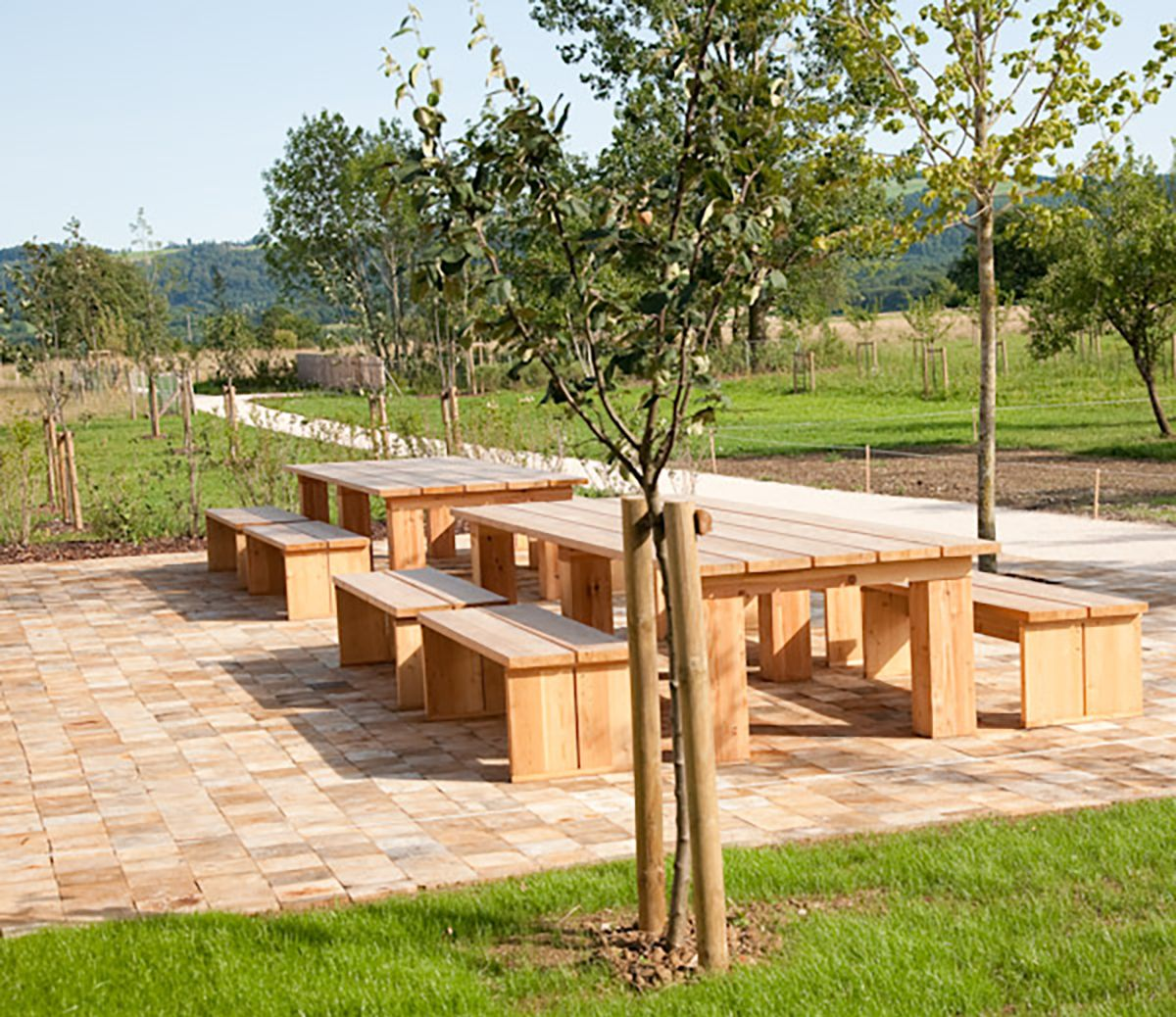 Terrasse bois Pavage bois acacia
